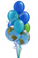 Earth Day Colors Balloon Bouquet (9 Balloons) delivery in Mcdonough