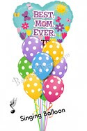 Mother's Day Singing Heart & Polka Dots Balloon Bouquet (10 Balloons) delivery in Philadelphia