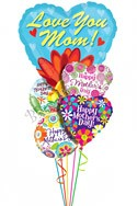 Mother's Day Big Heart Assortment Balloon Bouquet (5 Balloons) delivery in Philadelphia