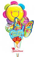 Mother's DayButterfly Blossom Smile Balloon Bouquet (5 Balloons) delivery in Montrose