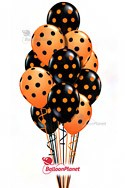 Halloween Polka Dots Balloon Bouquet (13 Balloons) delivery in Raleigh