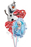 Valentine's DayFrozen Balloon Bouquet (4 Balloons) delivery in Raleigh