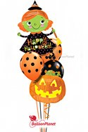 Jr Halloween Witch Balloon Bouquet (5 Balloons) delivery in Hartford