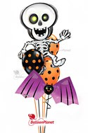 Jr Halloween Skeleton Balloon Bouquet (5 Balloons) delivery in Santa Clarita