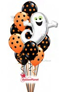Polka Dots and Ghost Balloon Bouquet (12 Balloons) delivered in Sherman Oaks
