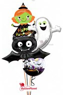 Witch, Ghost, Bat Group Balloon Bouquet (4 Balloons) delivery in Hartford