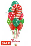 Candy Cane Dots Balloon Bouquet (14 Balloons) delivery in Toronto