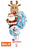 Frozen Christmas Balloon Bouquet (4 Balloons) delivery in Toronto