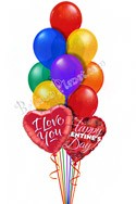Rainbow ConnectionWith Message Hearts Balloon Bouquet (13 Balloons) delivery in Glendale