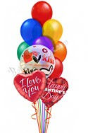Rainbow ConnectionWith Kiss Bubble Balloon Bouquet (14 Balloons) delivery in Glendale