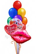 Rainbow ConnectionWith Jumbo Lips Balloon Bouquet (15 Balloons) delivery in Glendale