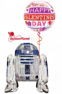 Star Wars ValentineR2D2 With Bubble Balloon Bouquet (2 Balloons) delivery in Glendale
