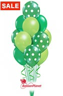 St Patrick's DayPolka Dot Balloon Bouquet (17 Balloons) delivery in Boston