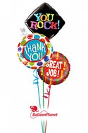 Great Job!Mini-Mylar Design B Balloon Bouquet (3 Balloons) delivery in Montrose