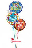 Great Job!Mini-Mylar Design C Balloon Bouquet (3 Balloons) delivery in Montrose