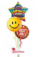 Great Job!Mini-Mylar Design D Balloon Bouquet (3 Balloons) delivery in Montrose