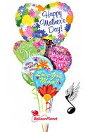 Mother's DaySinging Heart Balloon Bouquet (5 Balloons) delivery in Montrose