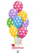 Mother's DayPastel Polka Dots Balloon Bouquet (13 Balloons) delivery in Garden Grove
