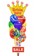 Birthday Queen Balloon BouquetName & Optional AgeRainbow Prints (12 Balloons) delivery in Orlando