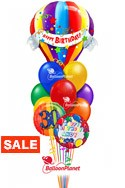 Birthday Hot Air Balloon BouquetName & Optional AgeSelect Your Colors (12 Balloons) delivery in Tampa