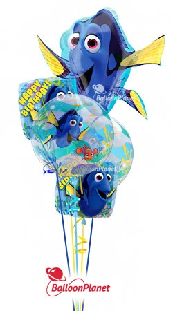 Finding Dory Birthday  Balloon Bouquet  (5 Balloons)