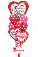 Valentine'sPolka Dot Mix Balloon Bouquet (9 Balloons) delivery in Tampa