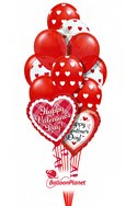 Valentine'sClassic Mix Balloon Bouquet (15 Balloons) delivery in Tampa