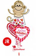 Jr Valentine'sLove Monkey Mix Balloon Bouquet (3 Balloons) delivery in Oklahoma City