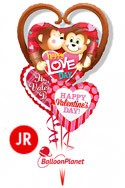 Jr Valentine'sMonkeys Heart Mix Balloon Bouquet (3 Balloons) delivery in Oklahoma City
