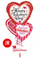 Jr Valentine'sJumbo Heart Mix Balloon Bouquet (3 Balloons) delivery in Oklahoma City