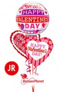 Jr Valentine'sBubble Heart Mix Balloon Bouquet (3 Balloons) delivery in Oklahoma City