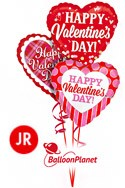 Jr Valentine'sClassic Heart Mix Balloon Bouquet (3 Balloons) delivery in Oklahoma City
