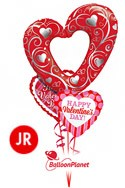 Jr Valentine'sOpen Heart Mix Balloon Bouquet (3 Balloons) delivery in Oklahoma City
