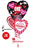 Jr Valentine'sSinging Heart Mix Balloon Bouquet (3 Balloons) delivery in Oklahoma City