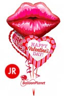 Jr Valentine'sKissey Lips Mix Balloon Bouquet (3 Balloons) delivery in Scottsdale