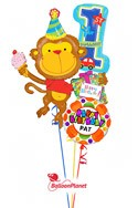 First BirthdayBirthday MonkeyPersonalized Name Balloon Bouquet (3 Balloons) delivered in Santa Clarita
