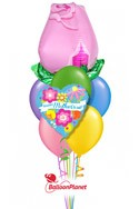 Mother's DayPink Rose Balloon Bouquet (8 Balloons) delivery in Milwaukee