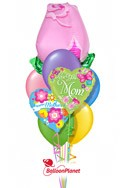 Mother's DayPink Rose Balloon Bouquet (9 Balloons) delivery in Milwaukee