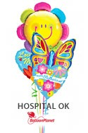 Mother's DaySmiley Flower & Butterfly Balloon Bouquet (4 Balloons) delivery in Milwaukee