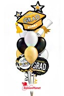 Classy GradPersonalized Name Balloon Bouquet (12 Balloons) delivery in Sherman Oaks