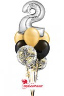 Single-DigitAny Number 1-9Anniversary Balloon Bouquet (3 Mylars, 6 Latex) delivery in Corpus Christi