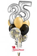 Double-DigitAny Number 10-99Anniversary Balloon Bouquet (4 Mylars, 6 Latex ) delivery in Corpus Christi