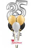 Double-DigitAny Number 10-99Anniversary Balloon Bouquet (2 Mylars, 6 Latex) delivery in Corpus Christi