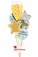 Stars and ChampagneAnniversary Balloon Bouquet (6 Mylars) delivery in Corpus Christi