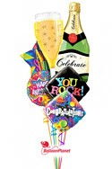 Bubbly CelebrationAnniversary Balloon Bouquet (6 Mylars) delivery in Corpus Christi