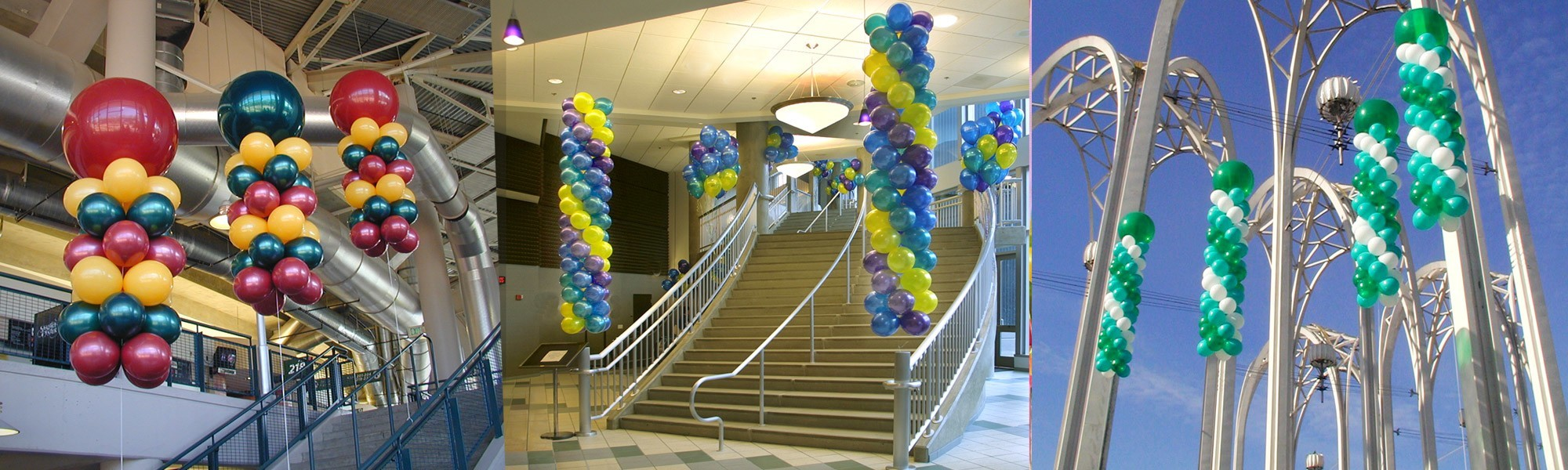 Columns - Aerial - Professionally Arranged and Hand Delivered by BalloonPlanet.com