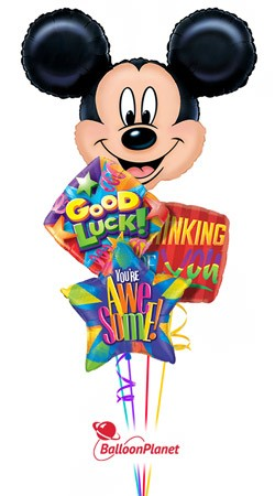 Mickey Mouse Back to School Balloon Bouquet (4 Balloons)