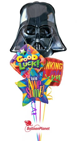 Darth Vader<br>Back to School Balloon Bouquet <br>(4 Balloons)