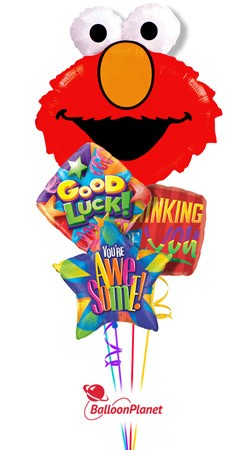 Elmo Back to School Balloon Bouquet (4 Balloons)