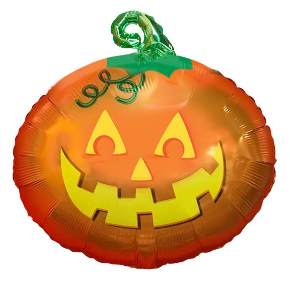Avail Oct 15-31 Pumpkin Balloon Jr Shape Mylar
